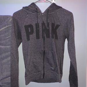 Pink Grey zip up jacket